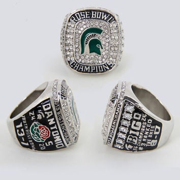 2015 Fashion Sport Jewelry Big Ten 2013 Michigan State Spartans Football Rose Bowl Championship