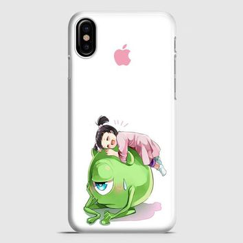 Monster Inc Cute Mike And Boo iPhone X Case