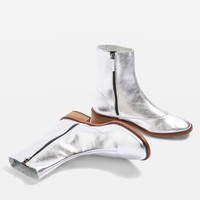 APRIL Metallic Leather Sock Boots | Topshop
