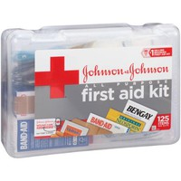 Johnson & Johnson Red Cross All Purpose First Aid Kit , 125 pc - Walmart.com