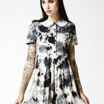 Storm Tie Dye Dress by Disturbia
