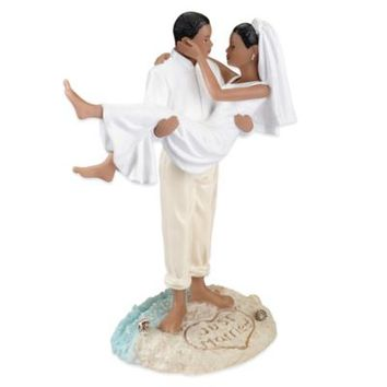 Lillian Rose™ African-American Beach Wedding Figurine Cake Topper