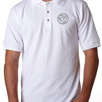 Yoga Clothing for You Mens OM Symbol Polo Shirt - Pocket Print