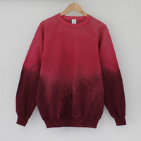 ANDCLOTHING — Mars Lava Dip Dye Sweater