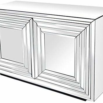 Crestview Millenium 2 Door Mirrored Cabinet 51.5 X 18 X 31