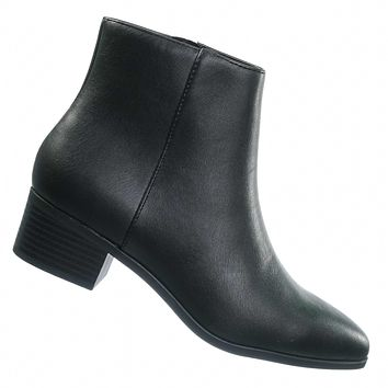 Kimbo Pointed Toe Ankle Boots - Womens Dressy Mid Stack Block Heel Bootie
