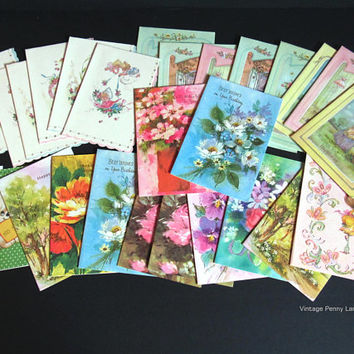 Huge Lot Vintage Greeting Cards, Birthday Cards, Baby Shower, Get Well, Thinking of You