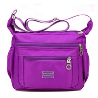 Women Waterproof Crossbody Bag Multi-zipper Bag Leisure Travel Bag