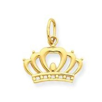 Crown Charm in 14k Gold