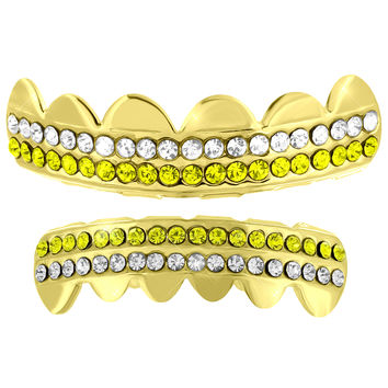 Halloween Howls Grillz Top Bottom Set 14k Yellow Finish