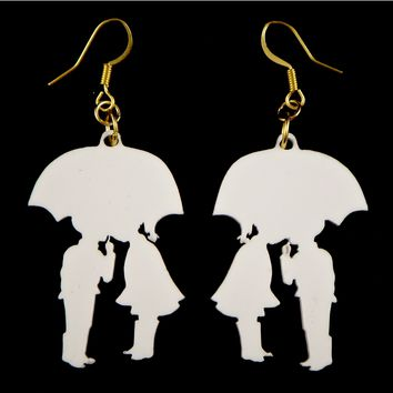 Kissing In The Rain Earring