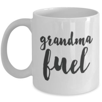 Funny Grandma Mug - Fun Grandmother Coffee Cup - Super Holiday Gift For Grandparents - Great Quality - Wash Over and Over - Ultimate Desk Gifts & Tea Coffee Cup