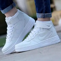 NIKE Running Sport Casual Shoes Women Men Sneakers High tops shoes White