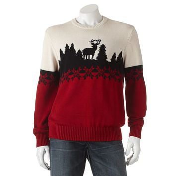 Dockers Classic-Fit Colorblock Holiday Sweater - Men