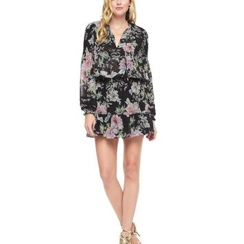 Pitch Black Somerset Somerset Floral Dress by Juicy Couture,