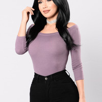 Big City Chick Bodysuit - Plum