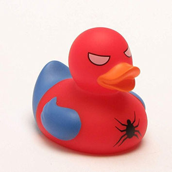 BPA Free Marvel Spiderduck Rubber Duck Ducky Duckey Ages 9 Months +