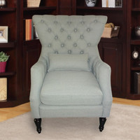 Furnistars Dark Gray Tufted Accent Chair