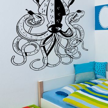 Vinyl Wall Decal Sticker Alien Squid #5337