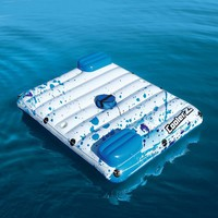 87'' Inflatable Floating Lounge Mattress Bed With Pillows Cooler 2-Cup Holders Swimming Pool Float Airmat Water Toys Pool Fun
