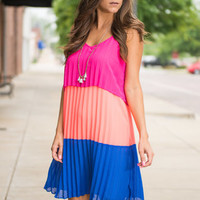 Popsicle Stand Dress, Neon Coral