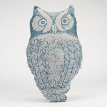 The Rise And Fall Owl Pillow Grey One Size For Women 23999811501