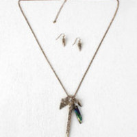 Iridescent Crystal Spike Necklace