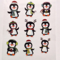 Christmas Holiday Glitter Penguins Stickers Washi Tape Erin Condren Life Planner Filofax Project Life Scrapbook Smashbook Plum Paper
