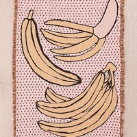 Calhoun & Co. Bananas! Woven Throw Blanket | Urban Outfitters