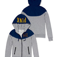 University of Michigan Colorblock Zip Hoodie - PINK - Victoria's Secret