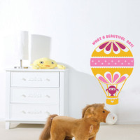 Kids Wall Decal Hot Air Balloon - Children Wall Stickers