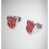 Transformers Red Autobot Stud Earrings