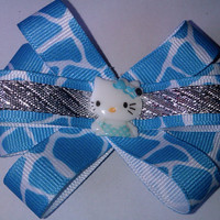 Baby Blue Hello Kitty Hair Bow