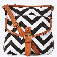 Monochrome Chevron Crossbody