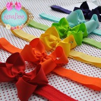 Over The Rainbow, BOW BANDS, Elastic Headbands, Hair Clips, Boutique Bows, Red, Orange, Yellow, Green, Blue, Purple, Girl