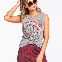 Billabong Morocco Womens Muscle Tank Heather Grey  In Sizes