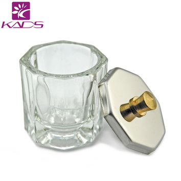 KADS 1pc Crystal Glass Dappen Dish Lid Bowl Cup Crystal Glass Dish Nail Art Tools Acrylic Nail Art Equipment Mini Bowl Cups