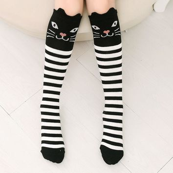 Cat Bear Panda Faces Over The Knee Thigh Socks - Women High Socks