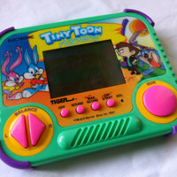 Tiny Toon Adventures Vintage Handheld Game Ice Cream Challenge 1990s Tiger Electronics Video Game plus FREE SHIPPING