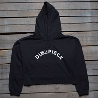 Dimepiece Women Old English Cropped Hoody black
