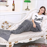 Mermaid Tail Blanket Blanket knitted fashion sofa carpet carpet air conditioning
