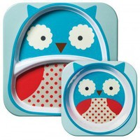 "Skip*Hop Zoo ""Owl"" 3-Piece Tableware Set"