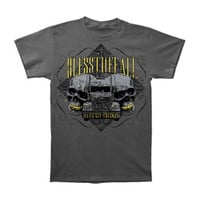 Bless The Fall Men's  Slim Fit T-shirt Grey Rockabilia