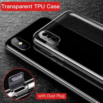 YOJOCK Ultra Thin Soft TPU Case For iPhone X 8 7 Plus 7 Clear Silicone Full Cover For iPhone 6 6S Plus Transparent Cases Coque