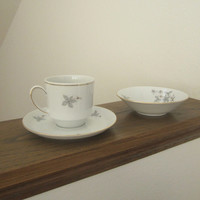 Vintage Winterling China Tea Cup and Saucer set with Finger Bowl.