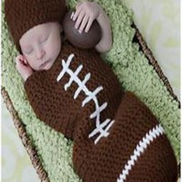 Football Cocoon Outfit Knit Baby Newborn Prop - CCC276
