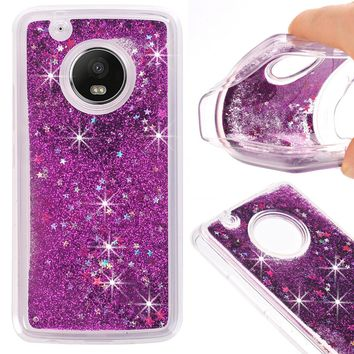 Dynamic Liquid Glitter Sand Soft TPU Case For Motorola Moto G5Plus  Cover Quicksand Mobile Phone Shell