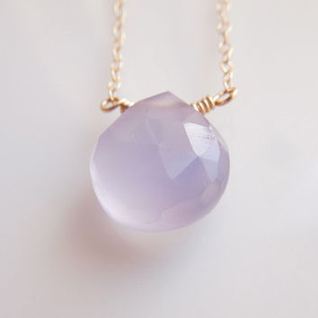 Lavender Chalcedony Necklace