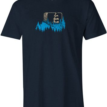 Crowned T-Shirt Midnight Navy Heather (SM)