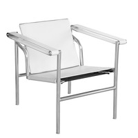 String Flat Chair, White Chrome